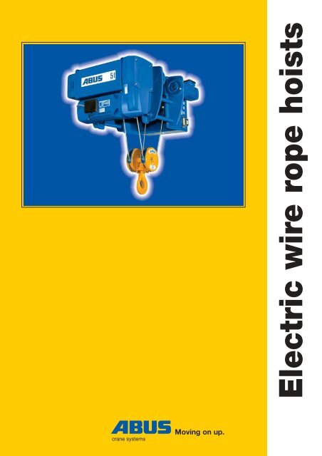 Abus Electric Wire Rope Hoists The Technology