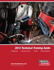 2012 Technical Training Guide   Lincoln Electric
