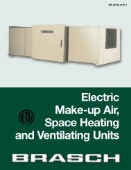 Electric Make-up Air, Space Heating and Ventilating Units - Brasch