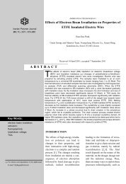 effects of electron beam irradiation on properties of etfe insulated ...