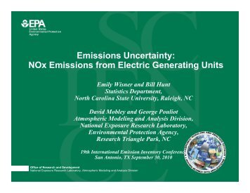 Emissions Uncertainty: NOx Emissions from Electric Generating Units