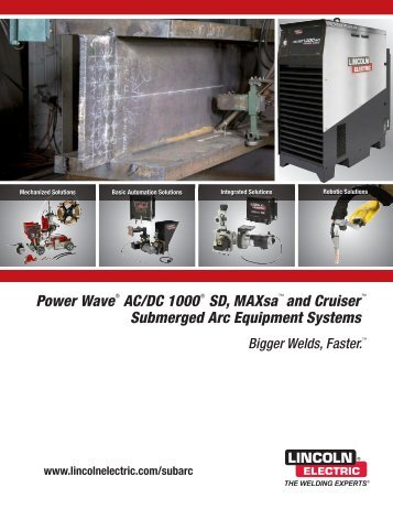 E9.181 Submerged Arc System - Lincoln Electric