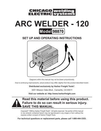 Arc Welder - 120 - Harbor Freight Tools