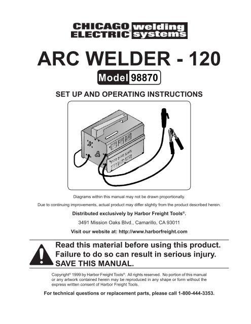 arc welder wiring diagram arc welder 120 harbor freight tools  arc welder 120 harbor freight tools