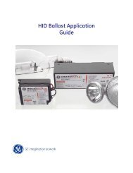 HID Ballast Application Guide | GE Lighting