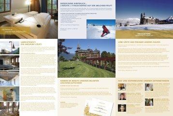 ERFRISCHEND WINTERLICH… - Jugendstil-Hotel Paxmontana