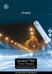 Lucalox XO X-tra Output - GE Lighting