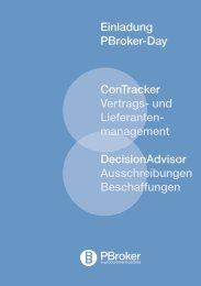 PBroker Day's Programm - PBroker AG