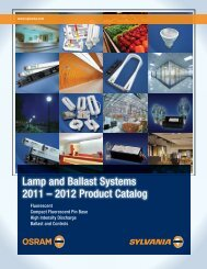 Lamp and Ballast Systems 2011 – 2012 Product Catalog - Cuny ...