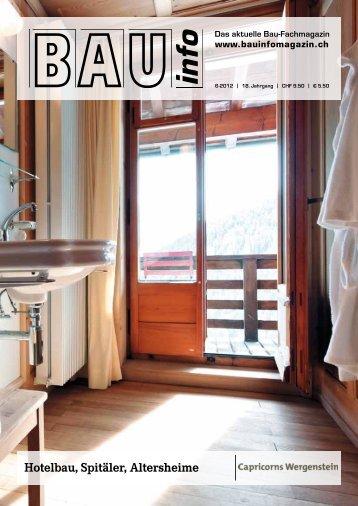 Hotelbau, Spitäler, Altersheime - Jugendstil-Hotel Paxmontana