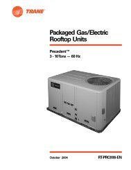 Packaged Gas/Electric Rooftop Units - Trane