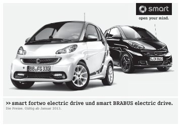 Preisliste smart electric drive - smart center Ostsee
