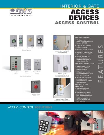 Door & Gate Control Literature - DoorKing