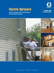 SW Electric Airless Sprayers Brochure - Graco Inc.