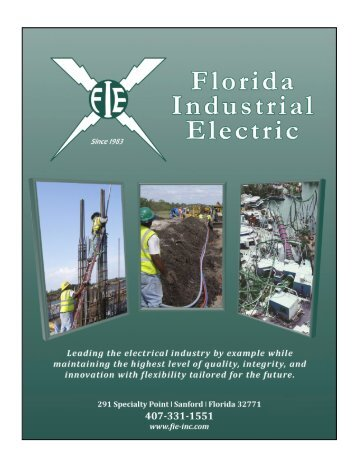Brochure (.pdf) - Florida Industrial Electric (FIE)