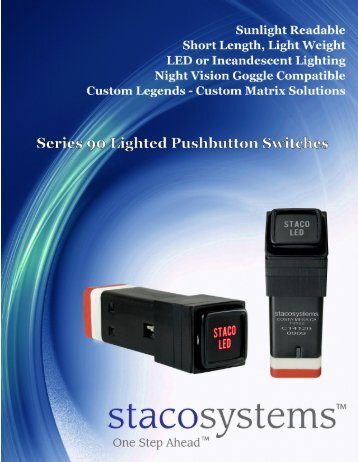 Series 90 Lighted Pushbutton Switches - Staco Systems
