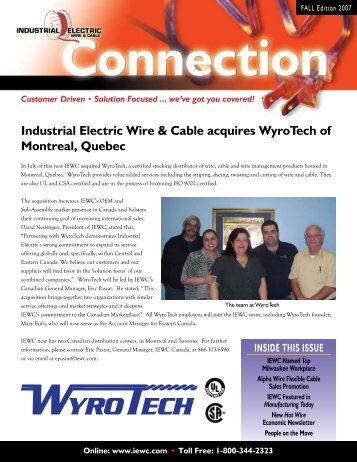 Industrial Electric Wire & Cable acquires Colonial Wire ... - IEWC