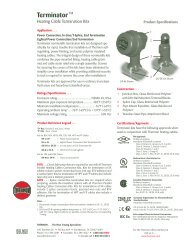 Terminator Product Specification - Thermon Manufacturing Company