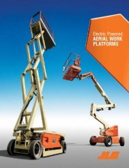 JLG Electric Powered Aerial Work Platform Brochure