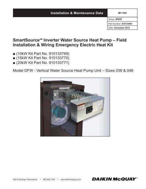 smartsource™ inverter water source heat pump - mcquay