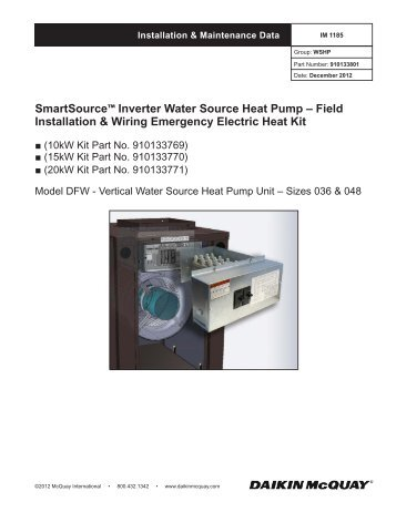 SmartSource™ Inverter Water Source Heat Pump - McQuay ... on trane heat pump diagram, rheem heat pump diagram, carrier heat pump diagram,