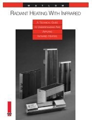 RADIANT HEATING WITH INFRARED - Watlow