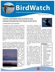 British Columbia Coast BirdWatch - Bird Studies Canada