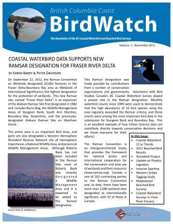 British Columbia Coast BirdWatch - Bird Studies Canada
