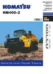 Download HM400-2 Specification (PDF) - Komatsu