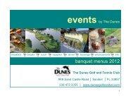 EVENTSby - Dunes Golf & Tennis Club