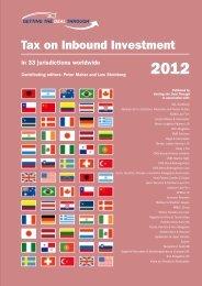 Tax on Inbound Investment - Poledna | Boss | Kurer