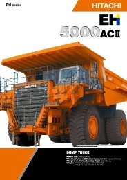 DUMP TRUCK - Hitachi Construction Machinery