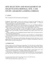 site selection and management of solid wastes disposal