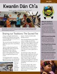 June 2012 - Kwanlin Dün First Nations
