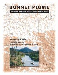 Bonnet Plume Canadian Heritage River Management Plan