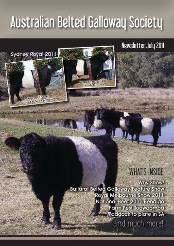 July 2011 Australian Belted Galloway Association Newsletter