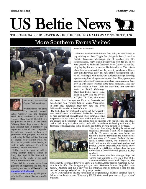 More Southern Farms Visited Us Belted Galloway Society