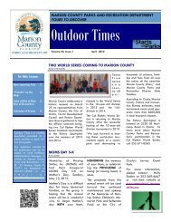 Outdoor Times Newsletter - April 2012 - Marion County Florida