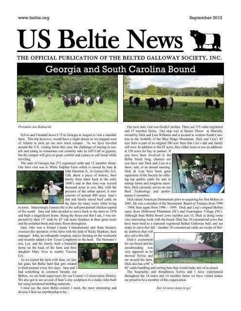 Georgia And South Carolina Bound Us Belted Galloway Society