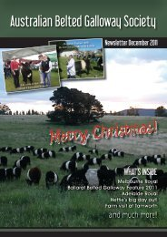 December 2011 Australian Belted Galloway Association Newsletter