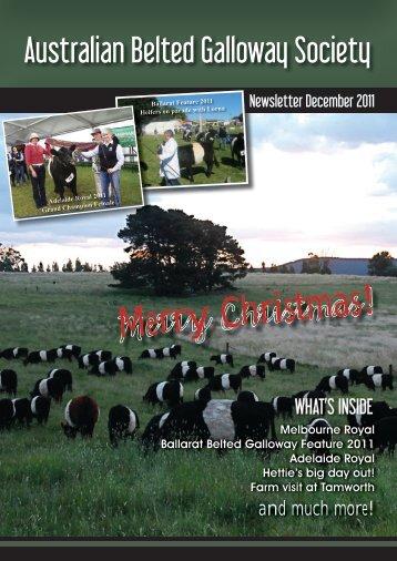 December 2011 Australian Belted Galloway Association Newsletter