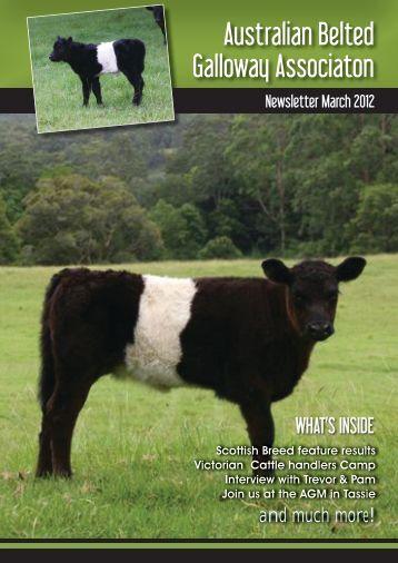 March 2012 Australian Belted Galloway Association Newsletter