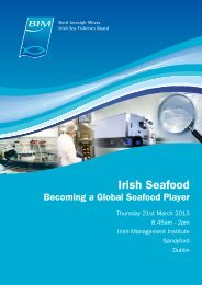 Becoming a Global Player - Bord Iascaigh Mhara