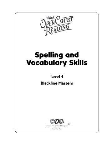 Second Grade Spelling and Vocabulary Word List 1 Quarter