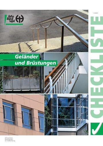 Checkliste beim Bau von Geländer und Brüstungen - Kaufmann AG