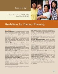 Guidelines for Dietary Planning - Coursewareobjects.com ...