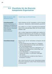 Checkliste Diversity - Gleichstellungs-Controlling