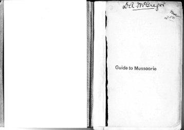Guide to Mussoorie - University of Virginia