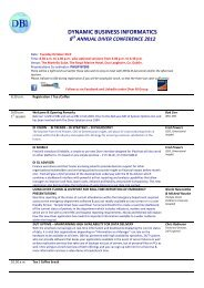 2012 Conference agenda - Diver BI Group