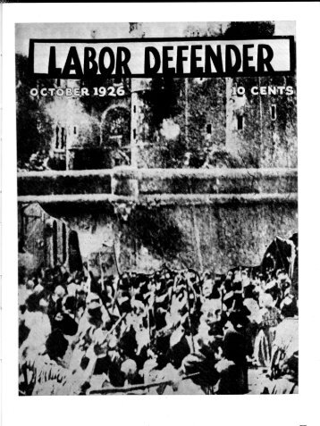 Labor Defender October 1926 Volume 1, No. 10